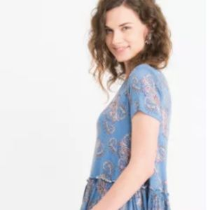 Agnes & Dora Relaxed Ruffle Tee Summer Blues